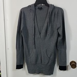 Gray v-neck sweater